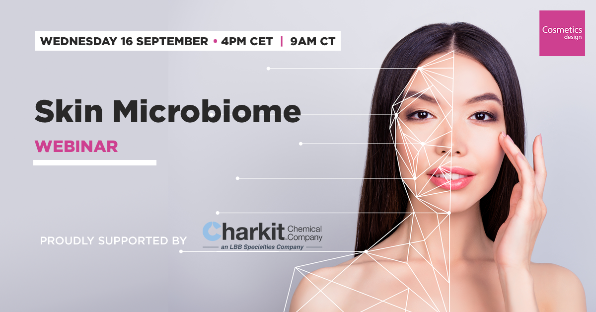 Charkit Sponsored Skin Microbiome Webinar by Cosmetics Design